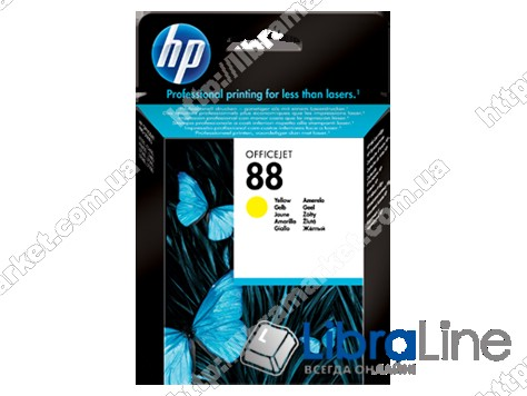 C9388AE, HP 88, Оригинальный струйный картридж HP, Желтый фото 1