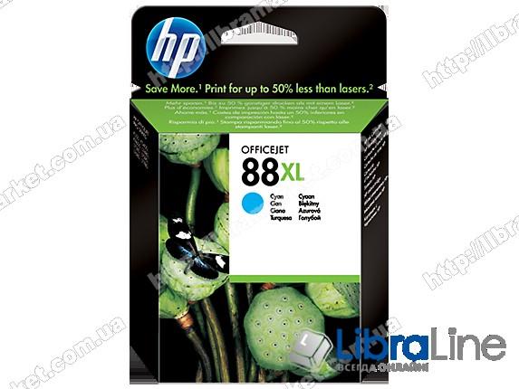 C9391AE, HP 88XL, Оригинальный струйный картридж HP увеличенной емкости, Голубой фото 1