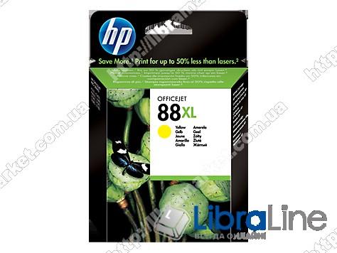 C9393AE, HP 88XL, Оригинальный струйный картридж HP увеличенной емкости, Желтый фото 1