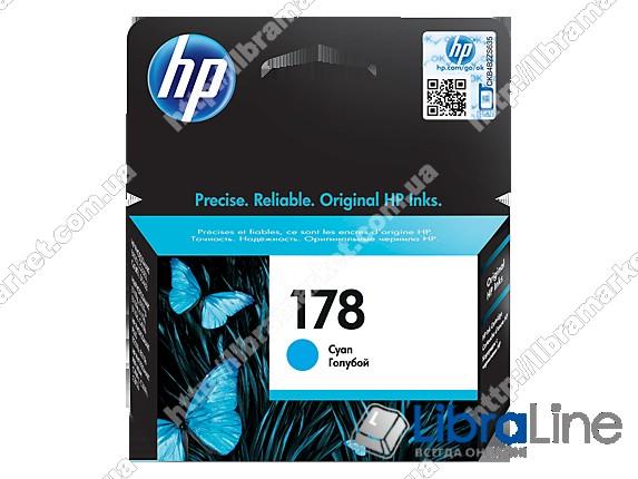 CB318HE, HP 178, Оригинальный струйный картридж HP, Голубой фото 1