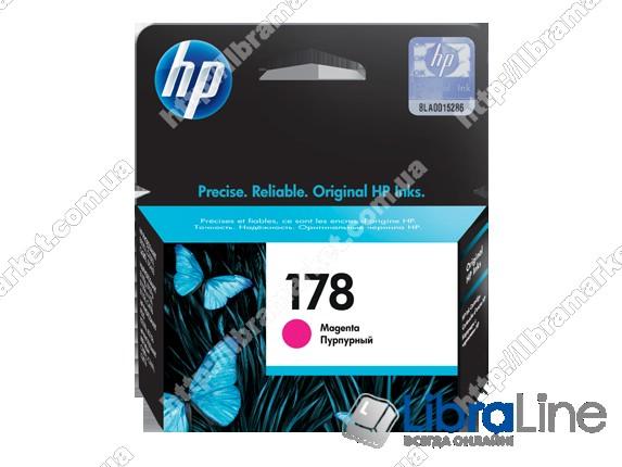 CB319HE, HP 178, Оригинальный струйный картридж HP, Пурпурный фото 1