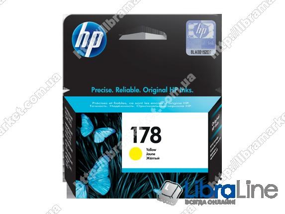 CB320HE, HP 178, Оригинальный струйный картридж HP, Желтый фото 1