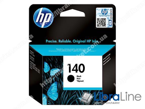 CB335HE, HP 140, Оригинальный струйный картридж HP, Черный фото 1
