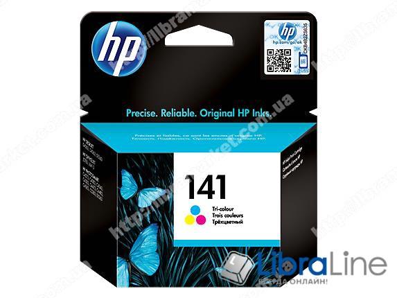 CB337HE, HP 141, Оригинальный струйный картридж HP, Трехцветный фото 1