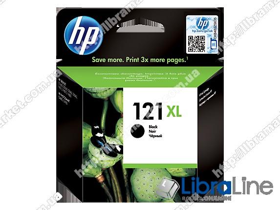 CC641HE, HP 121XL, Оригинальный струйный картридж HP увеличенной емкости, Черный фото 1