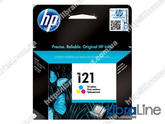 CC643HE, HP 121, Оригинальный струйный картридж HP, Трехцветный фото 1