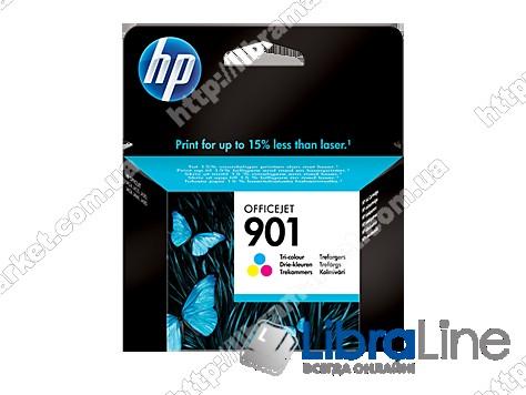 CC656AE, HP 901, Оригинальный струйный картридж HP, Трехцветный фото 1