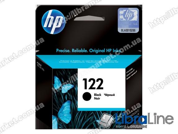 CH561HE, HP 122, Оригинальный струйный картридж HP, Черный фото 1
