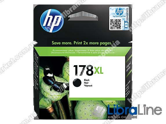 CN684HE, HP 178XL, Оригинальный струйный картридж HP увеличенной емкости, Черный  фото 1