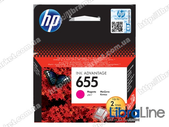CZ111AE, HP 655, Оригинальный картридж HP Ink Advantage, Пурпурный фото 1