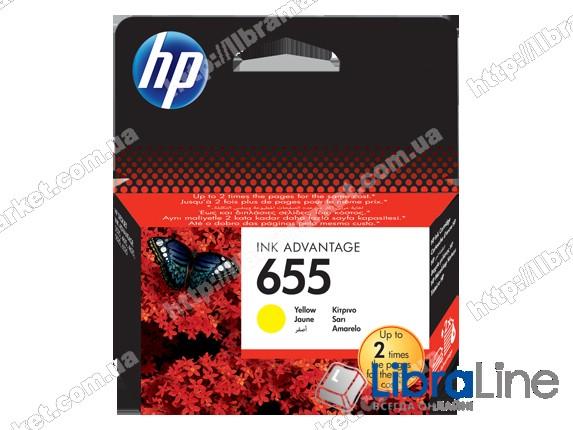 CZ112AE, HP 655, Оригинальный картридж HP Ink Advantage, Желтый фото 1