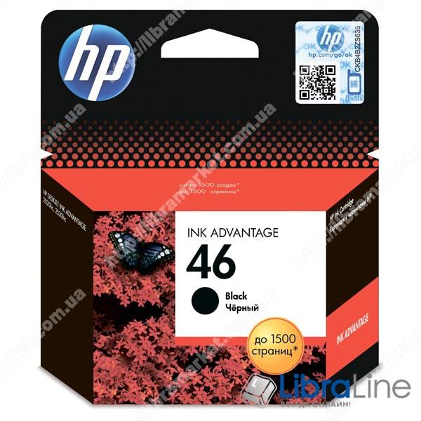 CZ637AE, Оригинальный струйный картридж HP 46 Advantage, черный фото 1