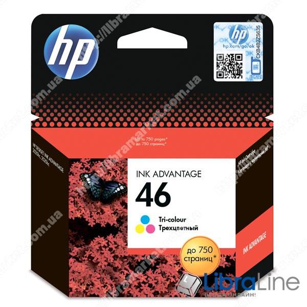 CZ638AE, Оригинальный струйный картридж HP 46 Advantage, трехцветный фото 1