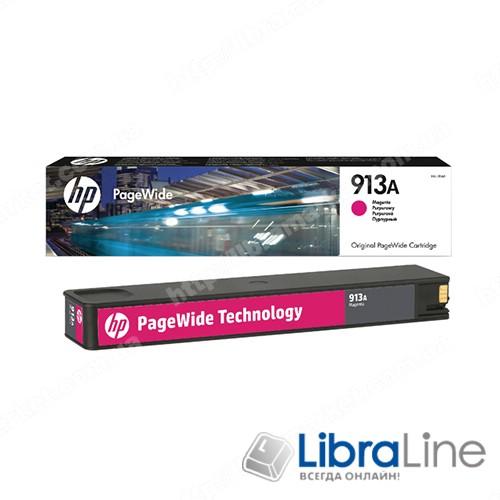 F6T78AE, HP 913A, Оригинальный картридж HP PageWide, Пурпурный фото 1
