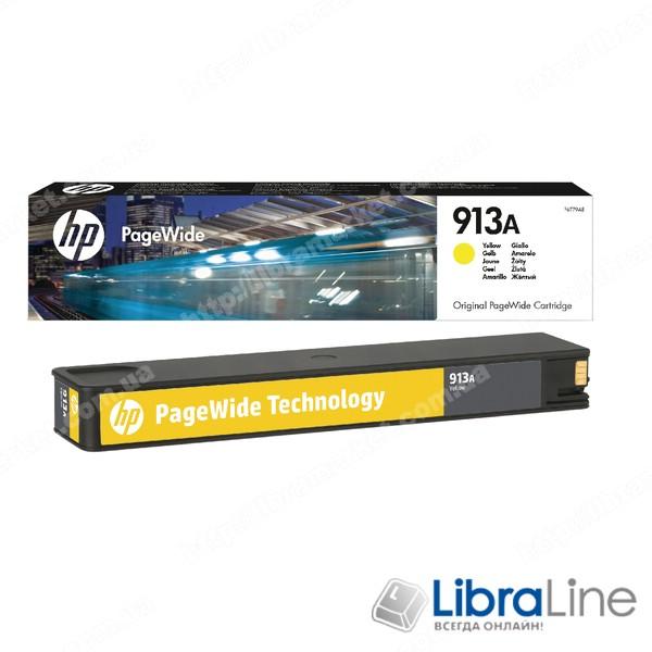 F6T79AE, HP 913A, Оригинальный картридж HP PageWide, Желтый фото 1
