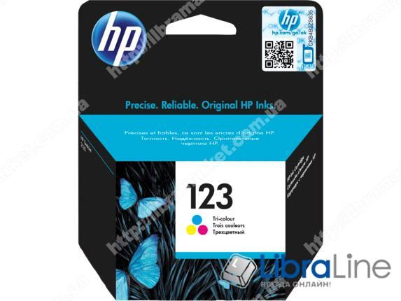 F6V16AE, HP 123, Оригинальный струйный картридж, Трехцветный фото 1