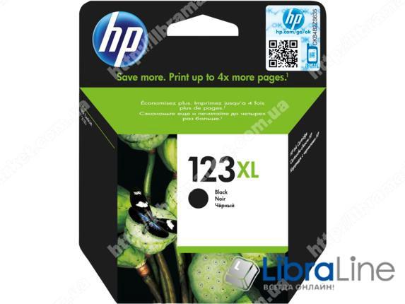 F6V19AE, HP 123XL, Оригинальный струйный картридж увеличенной емкости, Черный фото 1