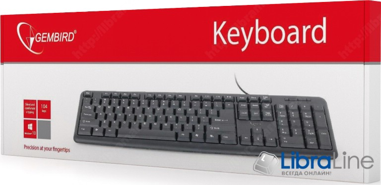 Клавиатура Gembird KB-U-103-UA black USB фото 1