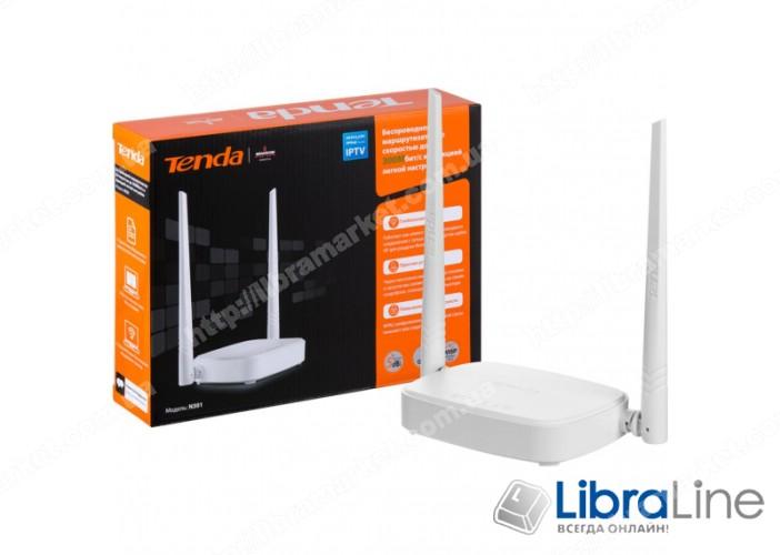 Интернет-шлюз TENDA N301 802.11n 300Mbit 1WAN, 3LAN 10 / 100 фото 1