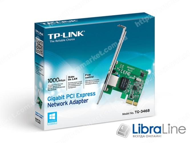 Сетевая карта TP-Link TG-3468 10/100/1000Mbps PCI-E фото 2