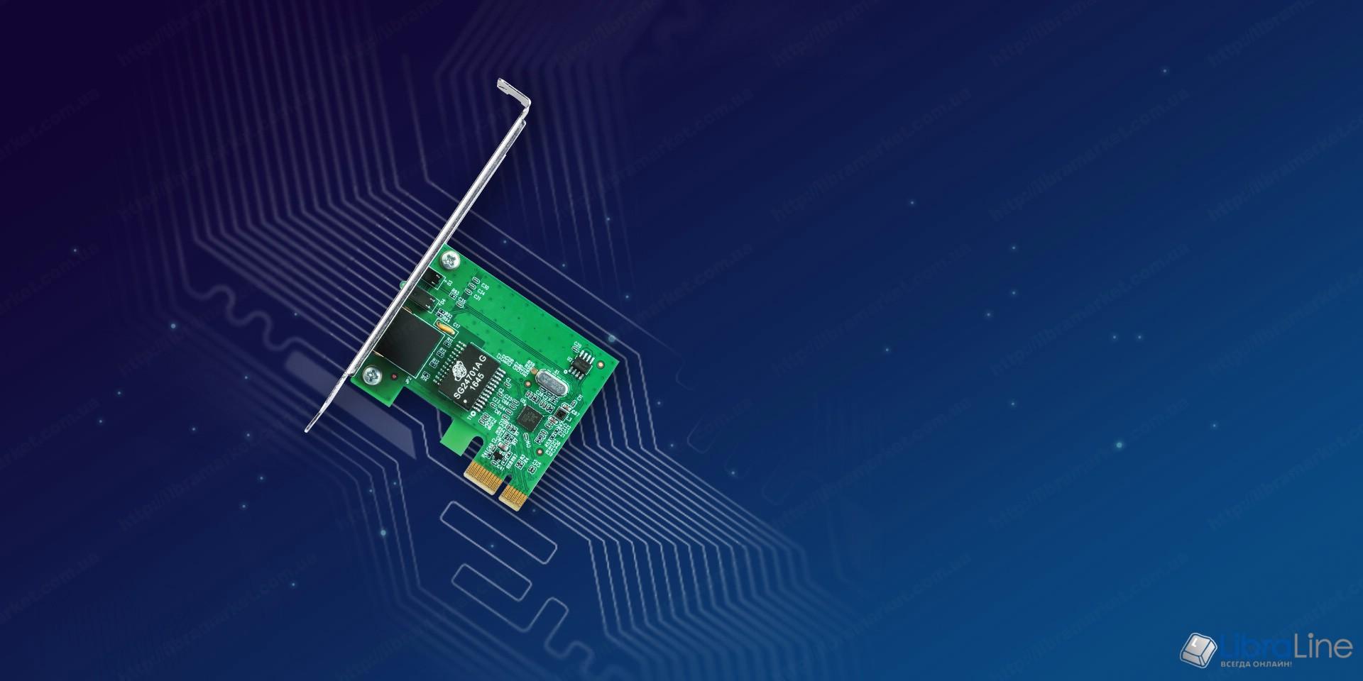 Сетевая карта TP-Link TG-3468 10/100/1000Mbps PCI-E фото 1