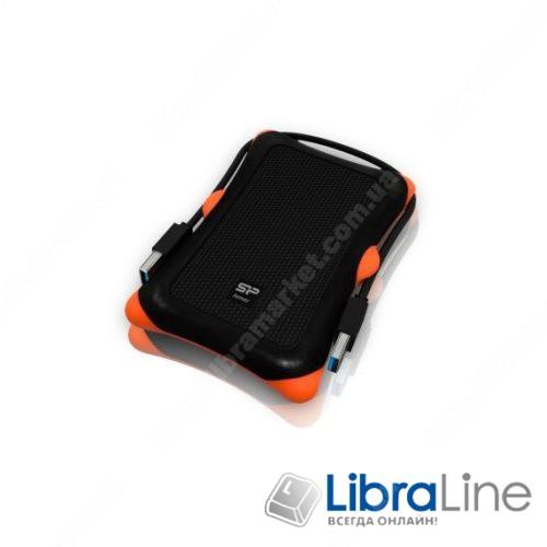 "SP010TBPHDA30S3K Внешний винчестер USB 3.0 SiliconPower Armor A30 1Tb 2.5"" black фото 1"